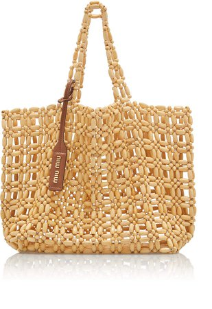 Natural Beaded Tote