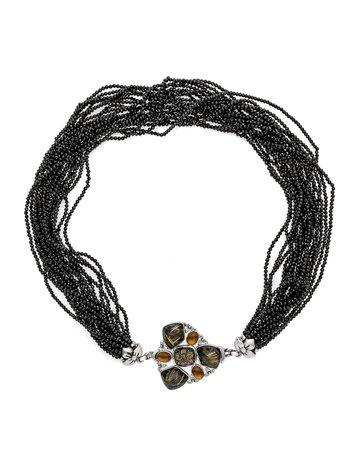 Stephen Dweck Multi-Strand Garnet Mother-of-Pearl Quartz Necklace