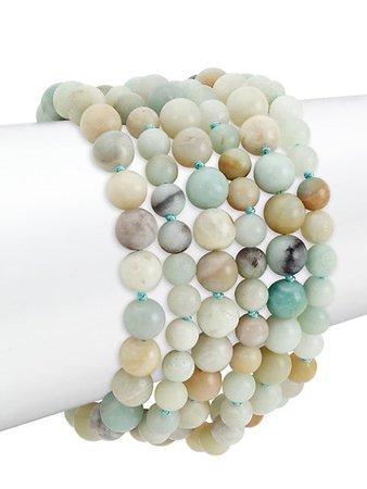 Kenneth Jay Lane 6-Row Amazonite Bead Toggle Bracelet | SaksFifthAvenue
