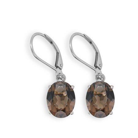 Smoky Quartz Oval Dangle Earrings – Linda Allard Jewelry