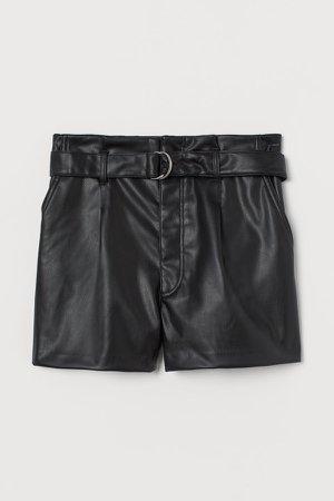 Belted Shorts - Black