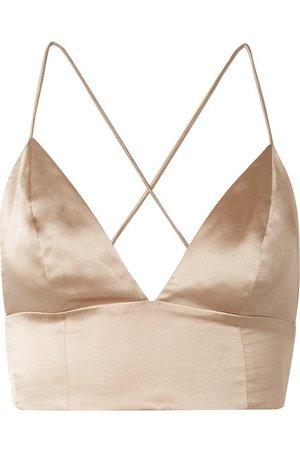 Cami NYC | The Mila silk-charmeuse bra top | NET-A-PORTER.COM