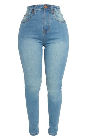 Shape Black High Waist Skinny Jean | Curve | PrettyLittleThing USA