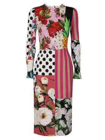 Multicolor Silk Dress