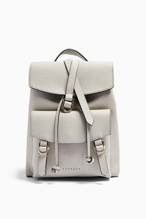 BRIT Grey PU Backpack   Topshop