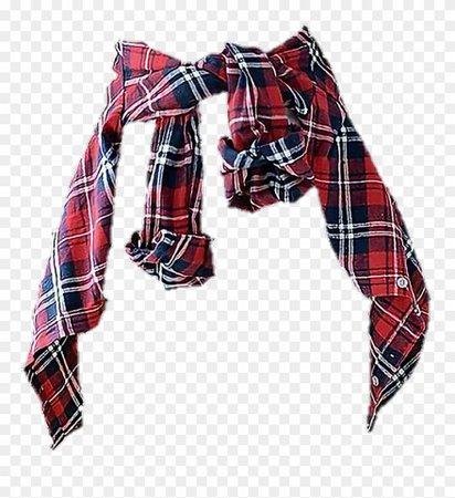 Red & Navy Blue Waist Flannel (png)