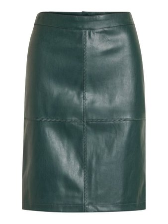 Faux leather mini skirt | VILA