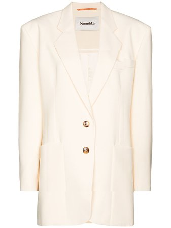 Shop Nanushka Evan single-breasted blazer with Express Delivery - Farfetch