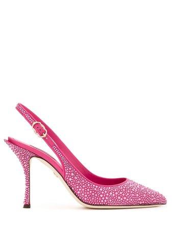 Dolce & Gabbana crystal-embellished Slingback Pumps - Farfetch
