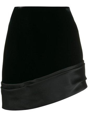 Saint Laurent Asymmetric Mini Skirt - Farfetch
