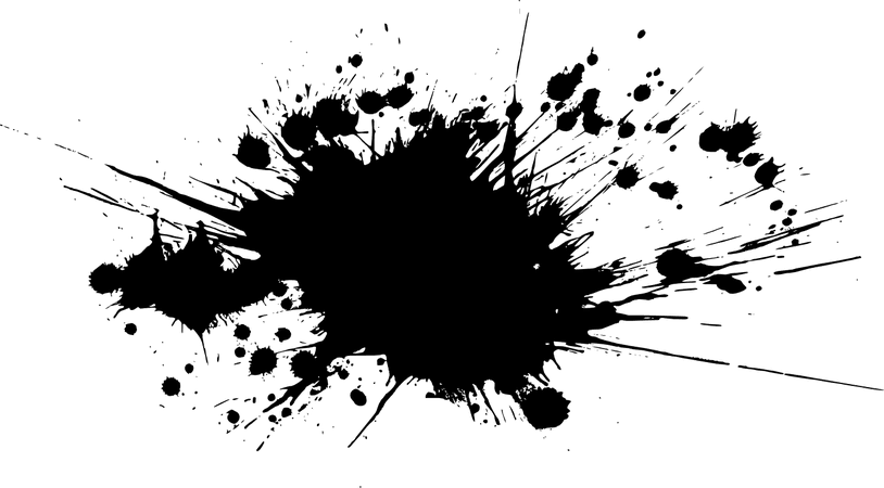 black paint splatter 1