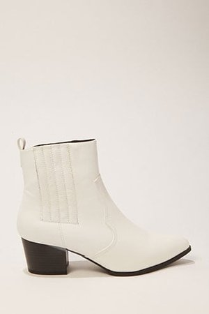 Faux Leather Pointed Toe Booties | Forever 21