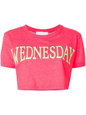 Alberta Ferretti Wednesday Cropped T-shirt - Farfetch