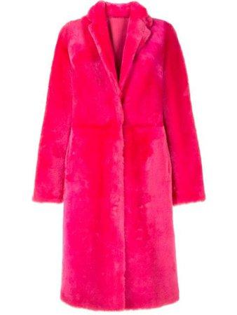 Yves Salomon Fur Trimmed single-breasted Coat - Farfetch
