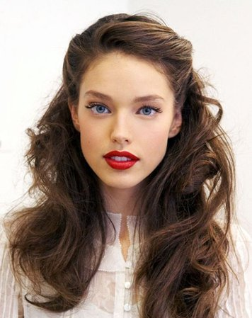 brunette retro hair - Google Search