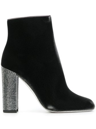 René Caovilla Jewelled High Heel Boots