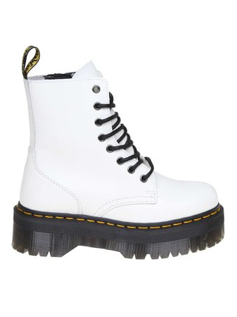 Dr. martens Jadon Anfibio In White Color Leather