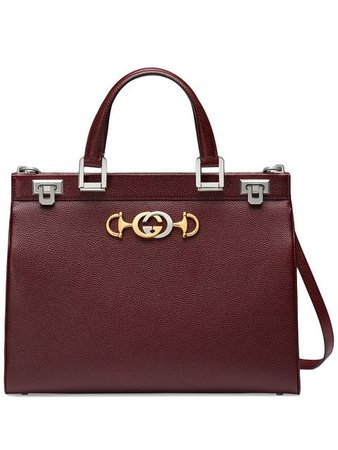 Gucci Gucci Zumi Grainy Leather Medium Top Handle Bag - Farfetch