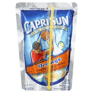 Kraft Nabisco Capri Sun Orange Beverage - 6 Oz.