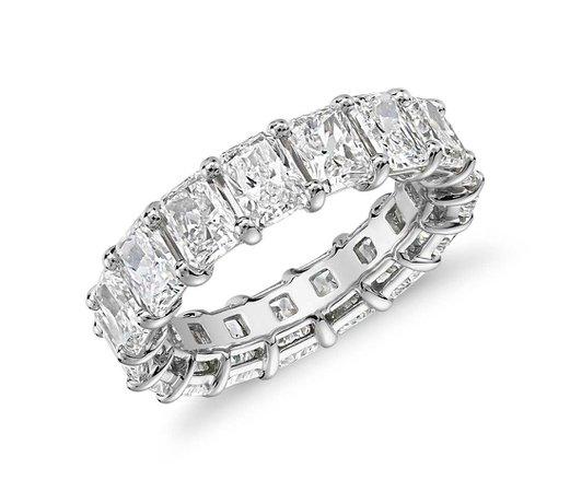 Radiant Cut Diamond Eternity Ring in Platinum (7.0 ct. tw.) | Blue Nile