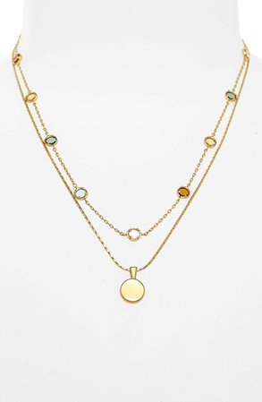 Madewell Rainbow Sparkle Necklace   Nordstrom