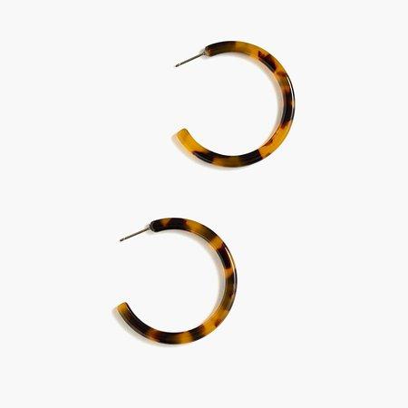 Mini Lucite Tube Hoop Earrings : | J.Crew