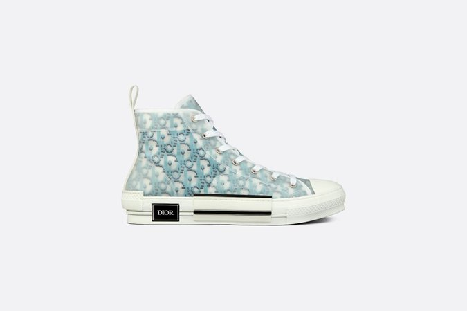 B23 High-Top Sneaker Blue Dior Oblique Pixel Canvas - Shoes - Man | DIOR