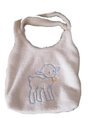 fuzzy tote bag