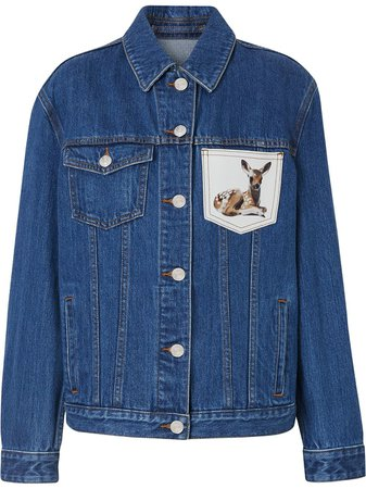 Burberry Deer Motif Japanese Denim Jacket - Farfetch