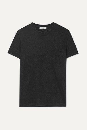 Linen-jersey T-shirt - Black
