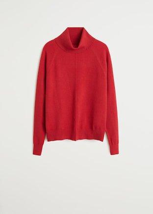 Turtleneck knit sweater - Woman   Mango Uzbekistan