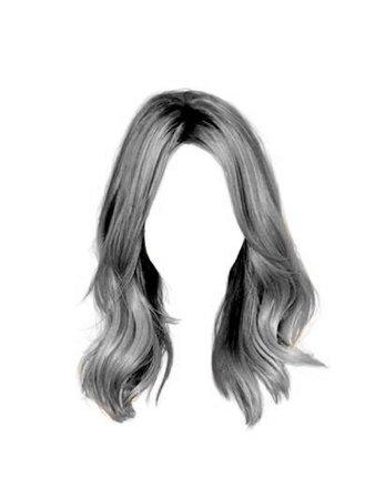 Silver / Grey Hair PNG