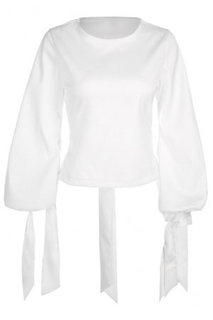 simple puff sleeve blouse