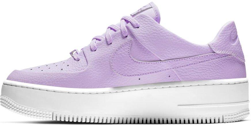 Lilac Platform Sneakers