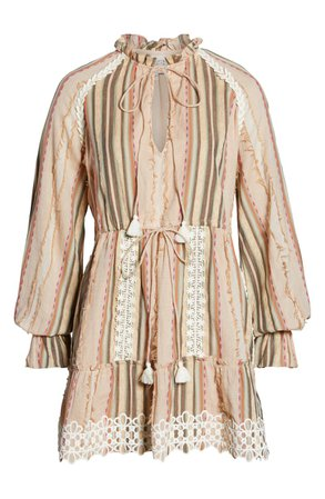 Hemant & Nandita Tassel Cover-Up Minidress   Nordstrom