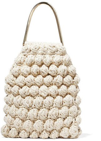 Barranco Crocheted Cotton And Lurex-blend Tote - Cream