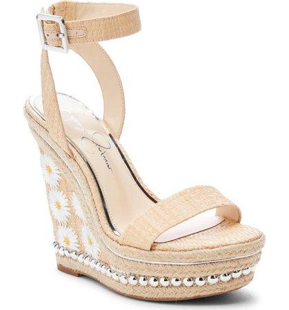 Jessica Simpson Alinda Embellished Wedge Sandal Women Nordstrom