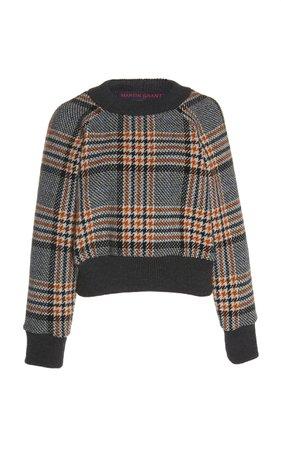 Checked Wool Sweater by Martin Grant | Moda Operandi