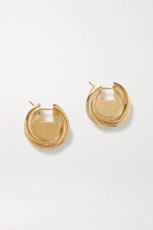 Gold Gold-tone earrings | Bottega Veneta | NET-A-PORTER