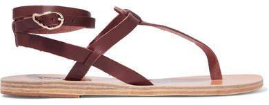 Estia Leather Sandals - Brown