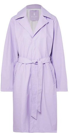 Matte-pu Trench Coat - Lilac