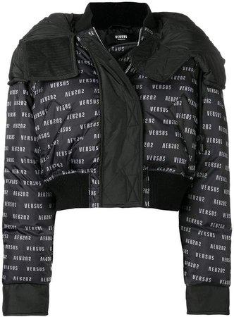 monogram cropped puffer jacket