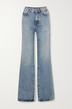 Kicker Jinx High-rise Wide-leg Jeans - Mid denim