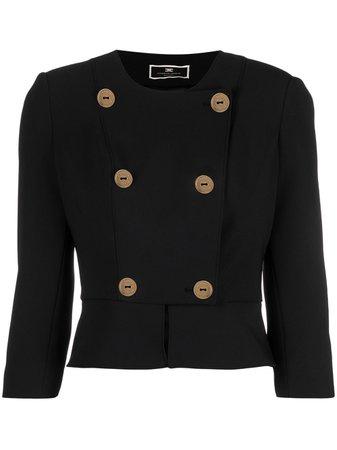 Elisabetta Franchi Cropped double-breasted Jacket - Farfetch