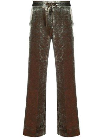 Ann Demeulemeester velvet straight-leg trousers