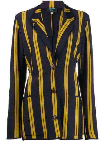 Jean Paul Gaultier Pre-Owned 1991 Striped Single Breasted Blazer Vintage | Farfetch.com