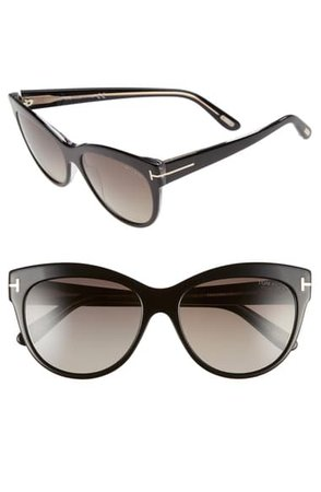 Tom Ford 'Lily' 56mm Polarized Cat Eye Sunglasses | Nordstrom