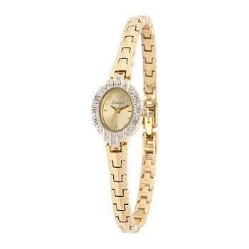 Gold Oval Bracelet Watch