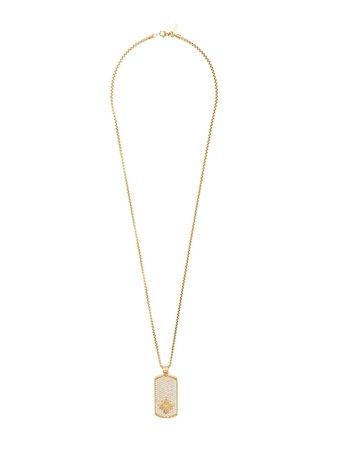 Shop yellow & metallic Nialaya Jewelry dog tag necklace with Express Delivery - Farfetch