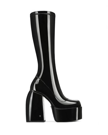 *clipped by @luci-her* Naked Wolfe Spice Black Shine Calf Boots